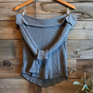 Hollister OTS Waffle Knit Ribbed Thermal
